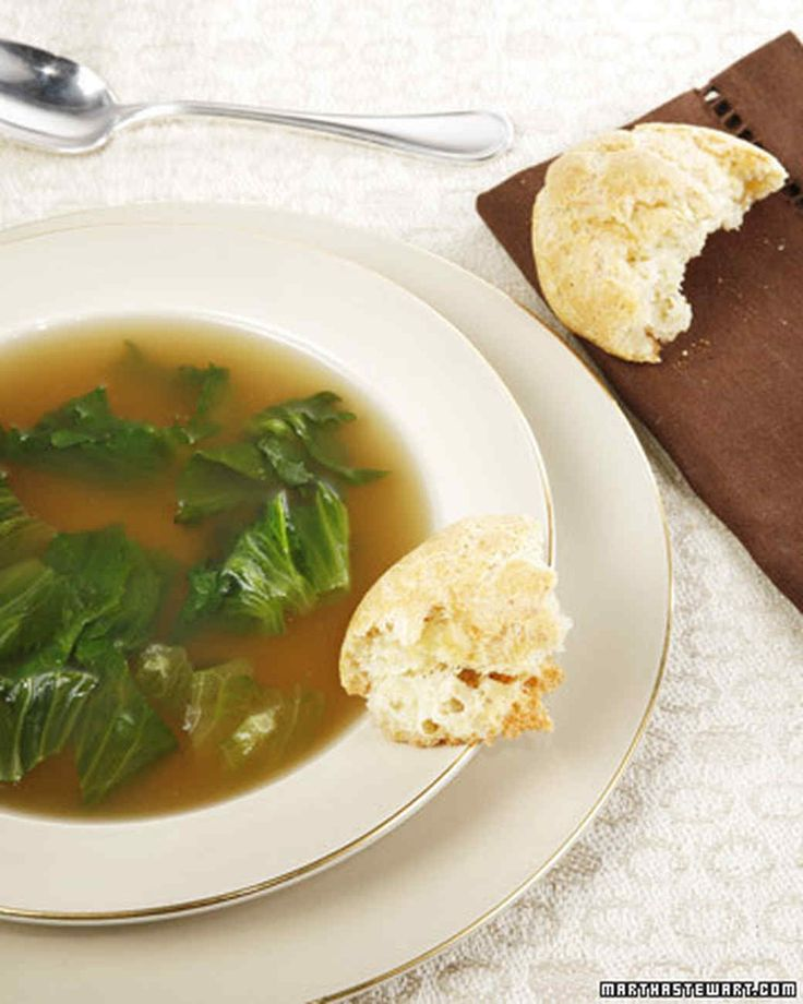 Chicken Escarole Soup | This recipe for chicken escarole soup comes courtesy of Joan Nathan. Serve it with Passover Popovers.
