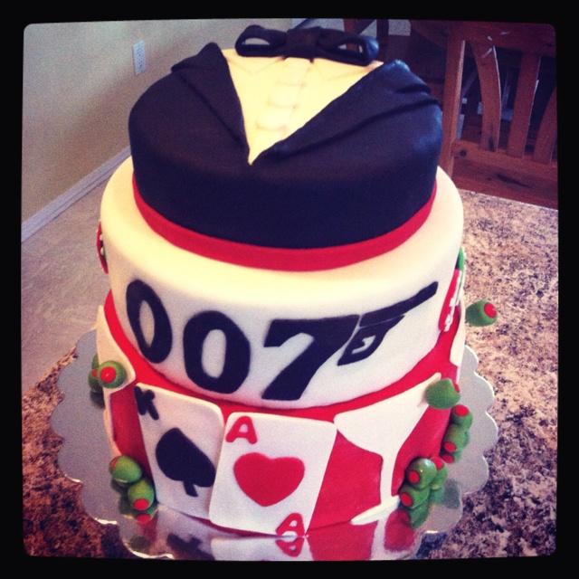 James Bond Cake - Yep I Made This One!