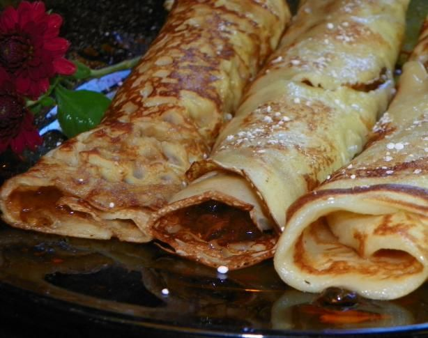 Norwegian Thin Pancakes from Food.com:   Norwegians like their pancakes served hot with butter and jelly, or butter and sugar.