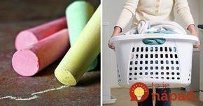 Vložte kúsok kriedy do koša na bielizeň. Tento trik pomôže prekvapivo rýchlo s nepríjemným problémom!