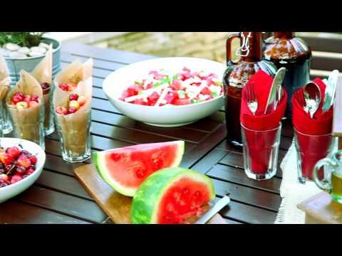 How to Creatively Decorate a Backyard Barbeque, with Anthony Albertus | Pottery Barn - YouTube