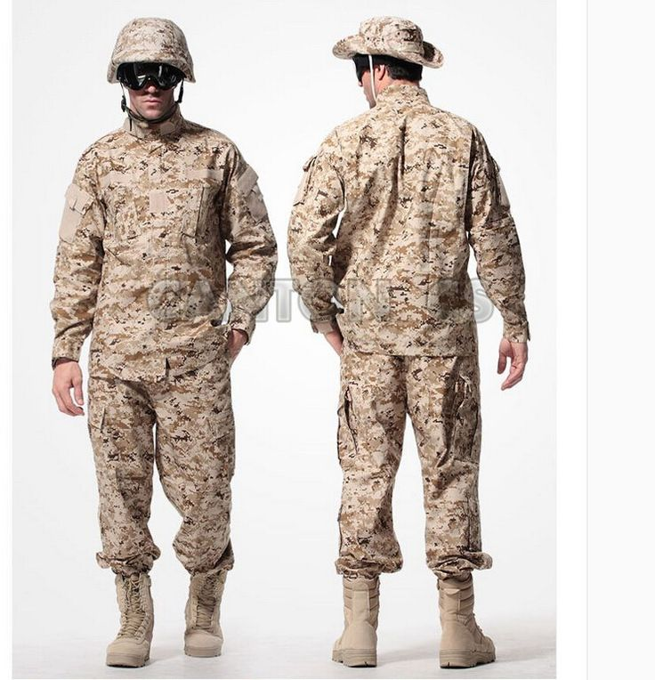 US Army Tactical Uniform Camouflage Suit Military Combat Uniform Set Shirt + Pants ACU Clothing Outdoor Hunting Clothes For Men #Affiliate