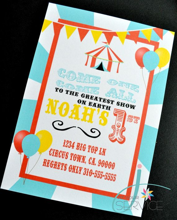 127 best Fiestas Circus party images on Pinterest Paper - circus party invitation
