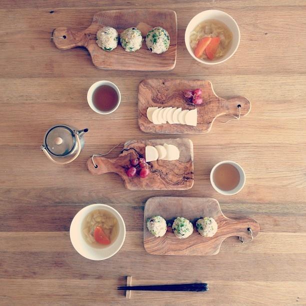 おにぎり朝ごはん。 - @yuu1026- #webstagram