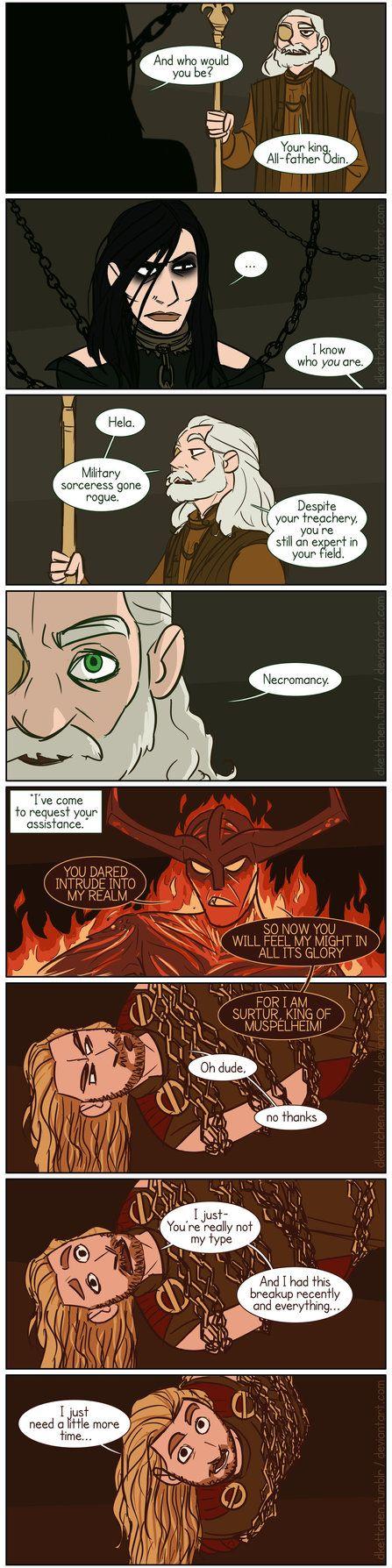 Ragnarok - page 1/? - Ice and Fire (part 1) by DKettchen.deviantart.com on @DeviantArt