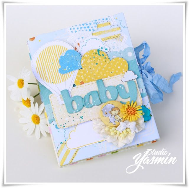 """Baby Mini Album - DT Scrapberry's - Using the """"Sweet Dreams"""" collection."""
