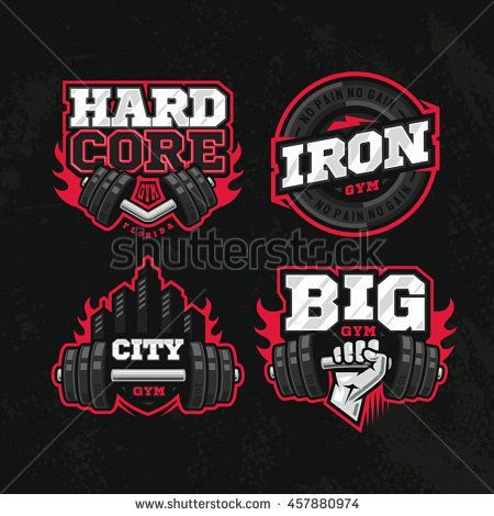 ee415be9f2099 Modern professional logo design set for a GYM or a Fitness Centre - Tap the  pin if you love super heroes too! Cause guess what  you will LOVE these  super ...