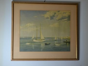 Sail Boat Lithograph By Leslie Kent