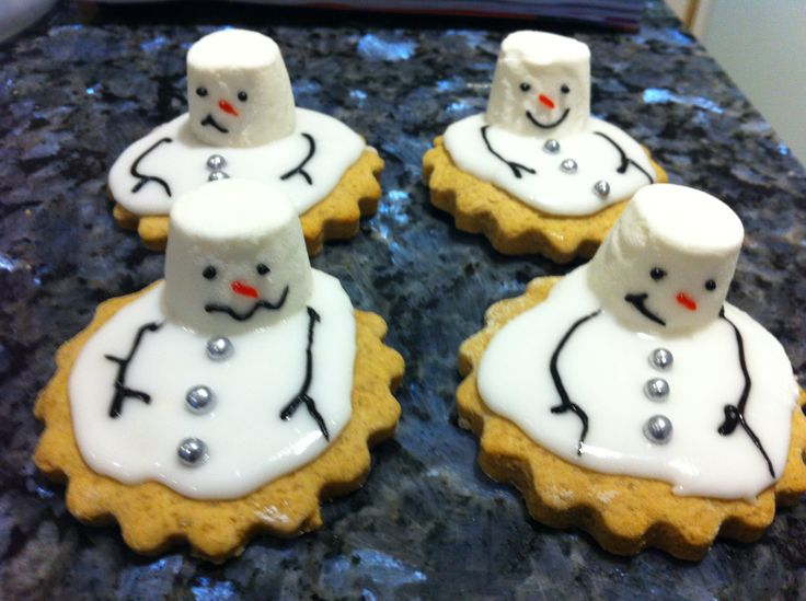 Melting snowmen biscuits  My Mary Berry moments