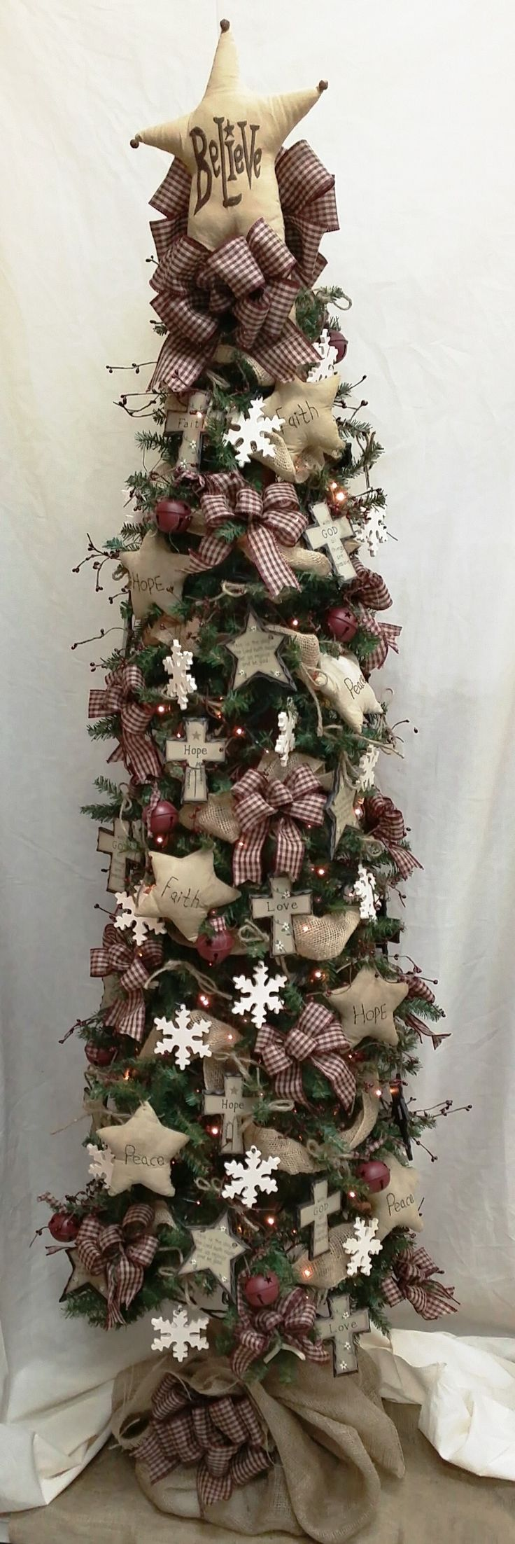 Christmas window box filler - Get Into The Christmas Season With Our Unique Primitive Star Christmas Tree Love The Country