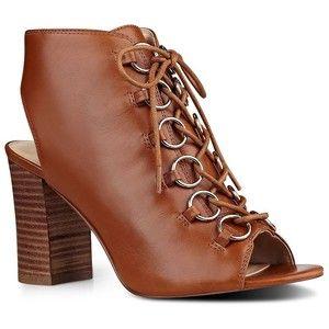 Nine West Bree Leather Peep-Toe Shootie