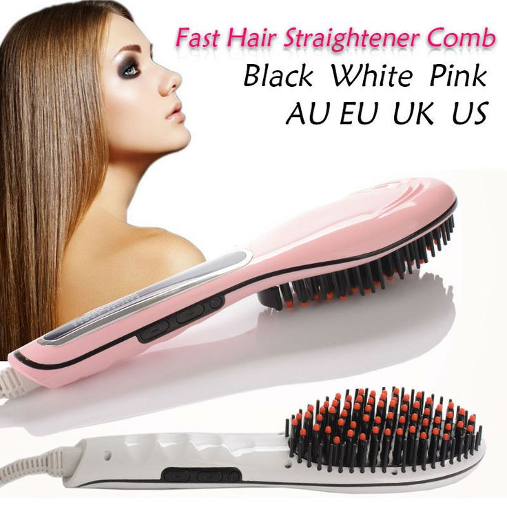 LCD Electric Brush Hair Straightener Comb Auto Massager Straightening Irons Simply Fast Hair Straightener Combs Escova alisadora