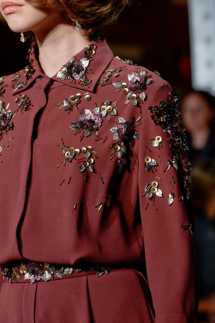Jenny Packham at New York Fashion Week Spring 2015. Marsala rocks!