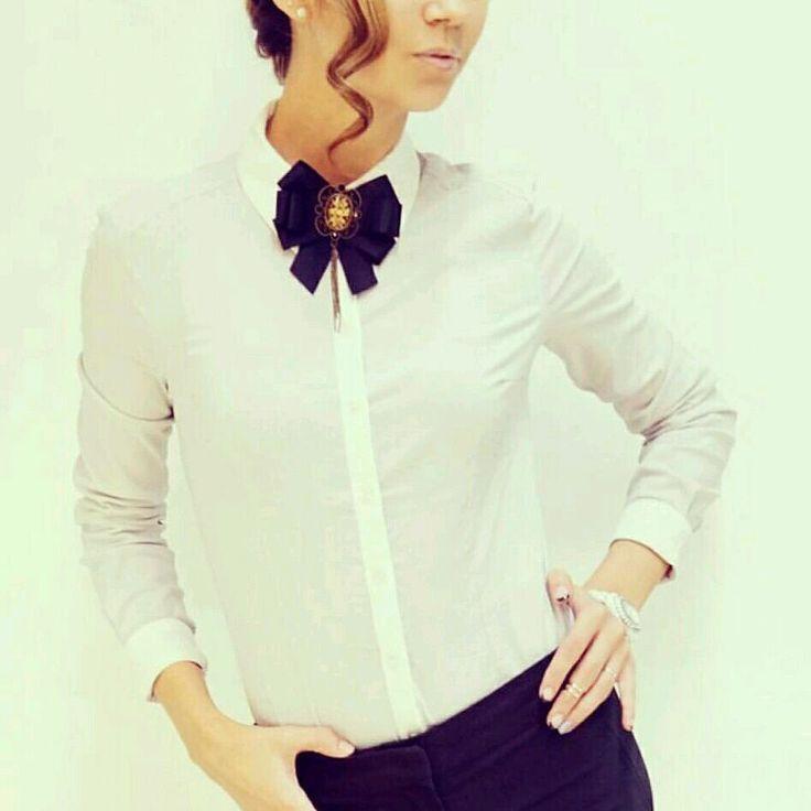 """Купить Брошь-галстук """" Классика"""" - классика, черный, офис, офисный стиль, брошь"""