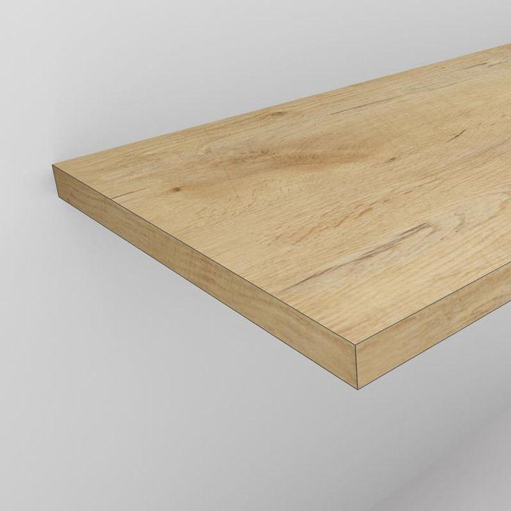 Waschtischplatte 4 cm in Eiche Holzdekor nach Maß