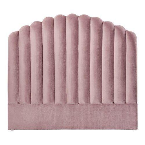 Adairs - Ariel Velvet Bedhead | Furniture | Adairs | Pink ...