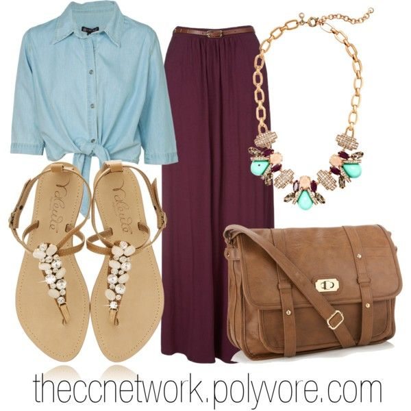 """""""Maxi Skirt Outfit 04"""" by theccnetwork on Polyvore"""