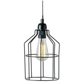 Industrial Cage Pendant Light - Black