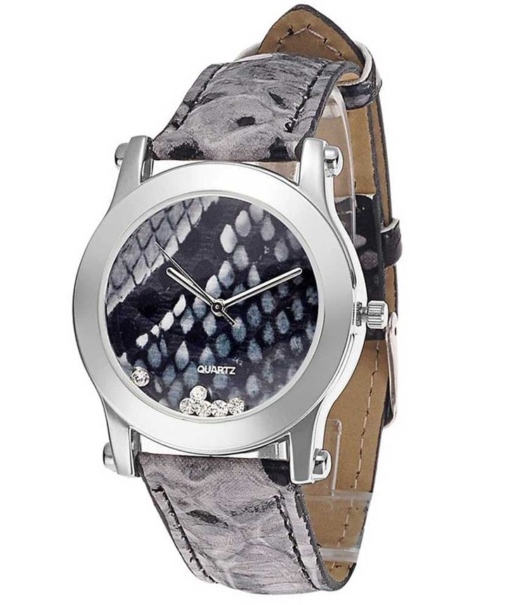 Loved it: Tropez Women's Grey Python Round Dial Leather Strap Watch, http://www.snapdeal.com/product/tropez-womens-grey-python-round/166435395