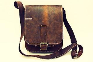 Borseta piele naturala Hounter Bag IPad de 74streetbags Breslo