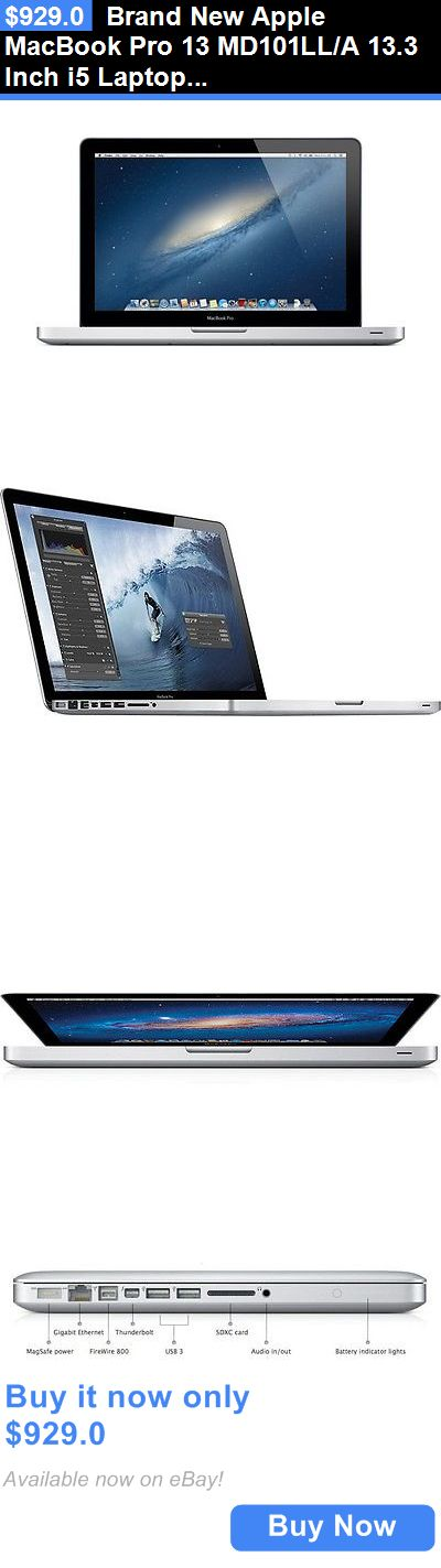 general for sale: Brand New Apple Macbook Pro 13 Md101ll/A 13.3 Inch I5 Laptop 4Gb 500Gb Dvdrw BUY IT NOW ONLY: $929.0