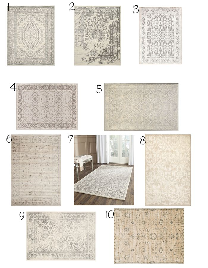 Ten stylish affordable neutral rugs on Stylehouseinteriors.net
