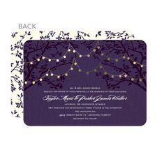 Enlightened Evening Purple Wedding Invitations