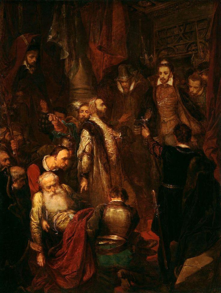 Zabicie Wapowskiego w czasie koronacji Henryka Walezego (obraz Jana Matejki) w 1574 roku na Wawelu. Na pierwszym planie widać grupę z rannym (lub martwym już) Wapowskim, w centrum stoi Jan Tęczyński, proszący króla o sprawiedliwy wyrok, a po prawej sprawca - Samuel Zborowski z czekanem w dłoni.