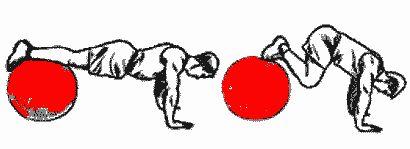 exercices pour les abdominaux avec ballon de gym