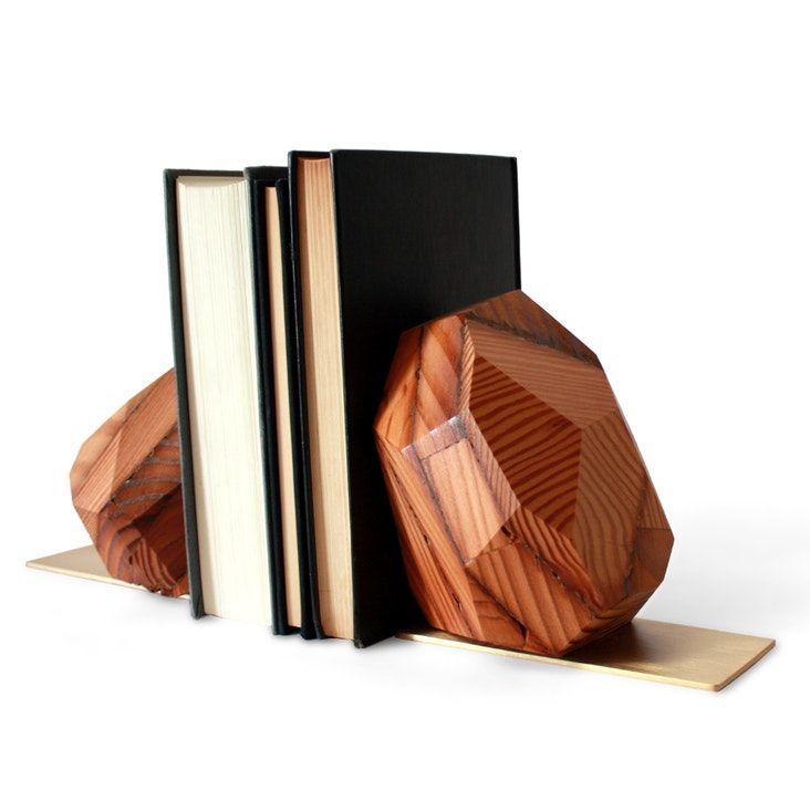 Die Besten 25+ Buchstütze Holz Ideen Auf Pinterest Wandleuchten   Coole  Buchstutzen Kreativ Dekorativ Stabil