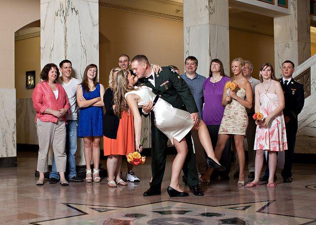 Stephanie Zacharys budget friendly courthouse and pizza wedding