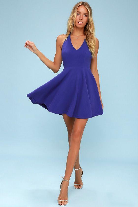 5d6058783528fc Lawson Royal Blue Skater Dress   Clothing & Accessory Wishlist ...