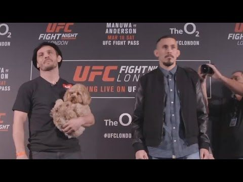 MMA Brad Pickett brought his dog to his UFC face off