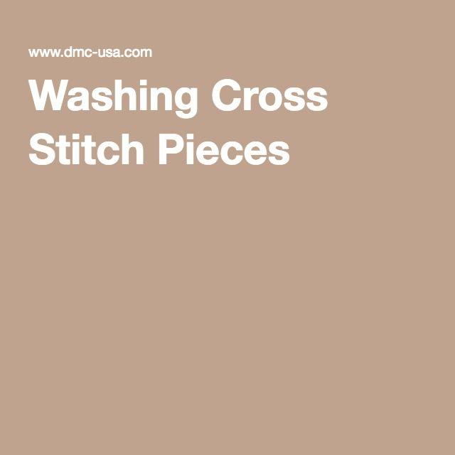 Washing Cross Stitch Pieces