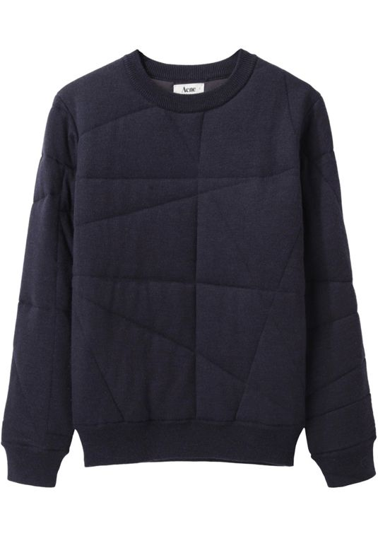 Acne Jumper - Stitch over a sweatshirt for a subtle pattern.