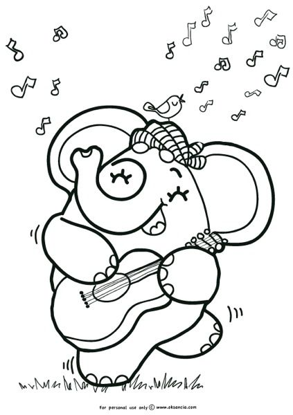 Coloring Book Pages Guitar 49 Best Printable Images