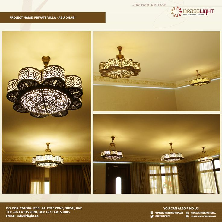 This Modern Brass Chandelier Really Fit In To One Living Room Of Private Villa Abu Dhabi Might Be An Awesome Design Your Place Too Get It Now
