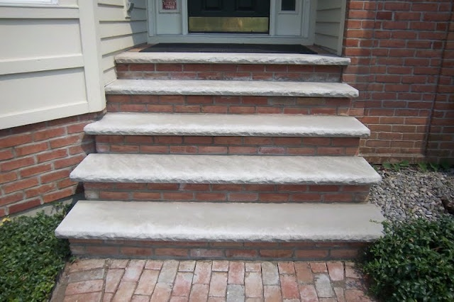 limestone steps gardening pinterest bricks and front steps. Black Bedroom Furniture Sets. Home Design Ideas