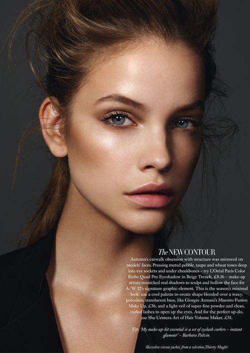 fresh+dewy makeup....Barbara Palvin by Jonas Bresnan for Harper's Bazaar UK September 2012.