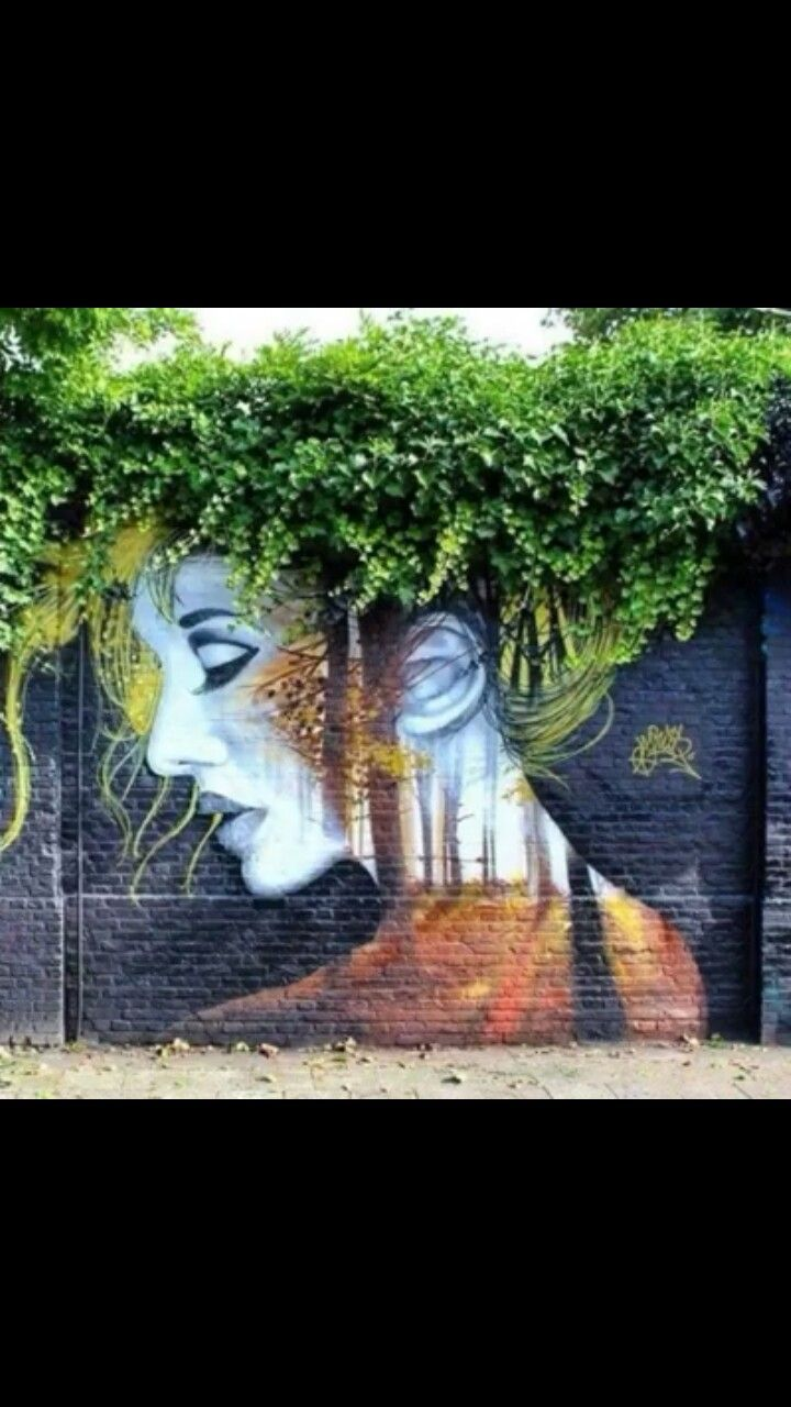Street art working with nature!