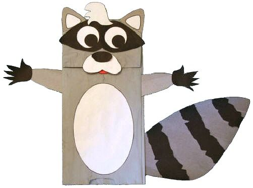 Kissing Hand Activities: Paper Bag Raccoon Craft.  Perfect for The Kissing Hand.