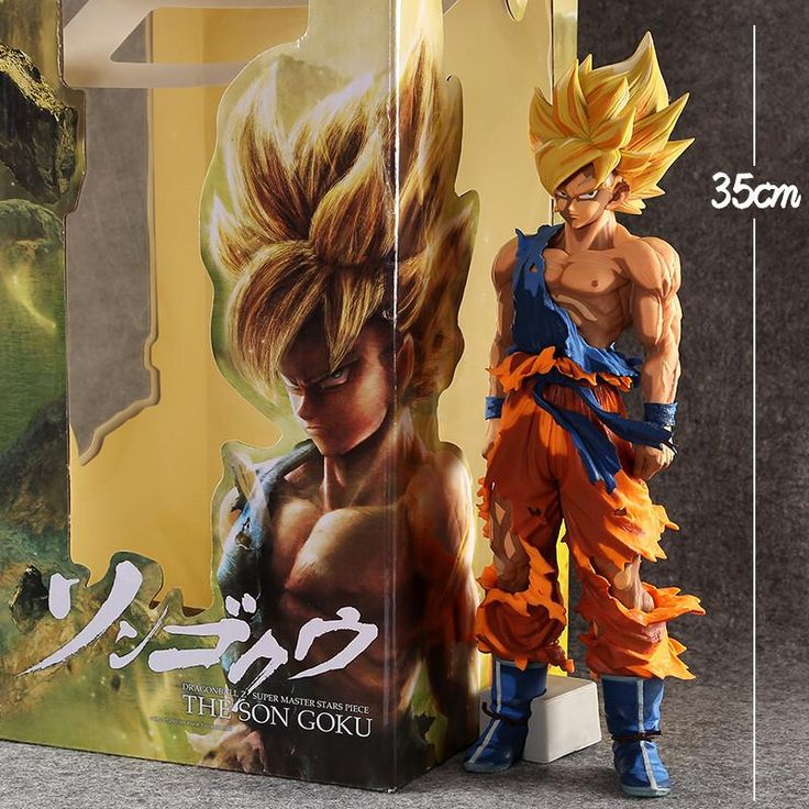 """Dragon Ball Z Super Saiyan Goku PVC Action Figure Collection Model Toy 14"""" 35CM Size. Gender: UnisexAge Range: 8-11 Years,5-7 Years,2-4 YearsWarning: DragonballMaterial: PVCScale: 1/60Item Type: ModelSize:35cmSoldier Accessories: Soldier Finished ProductCondition: In-Stock ItemsVersion Type: First EditionModel Number: Dragon BallMfg Series Number: ModelDimensions: 35cmTheme: Movie & TVRemote Control: NoCompletion Degree: Finished GoodsPuppets Type: ModelCommodity Attribute: Peripherals"""