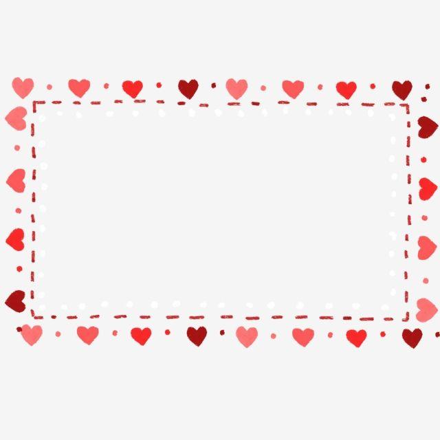 Love Border Frame Border Illustration Hand Painted Hand Painted Border Illustration Red Heart Red Love Heart Shaped Heart Frame Love Frames Heart Hands Drawing