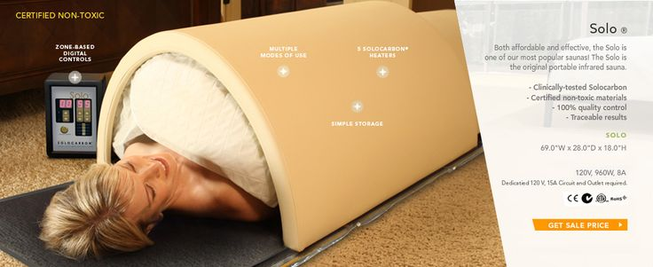 Portable far infrared, low EMF sauna by Sunlighten. One of the few ways known to detox heavy metals from the body! Plus burns up to 700 calories during a 40 minute use!
