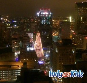 indianapolis city county building observation deck at christmas