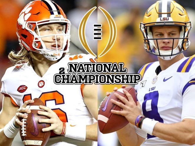 College Football National Championship 2020 Clemson Vs Lsu In