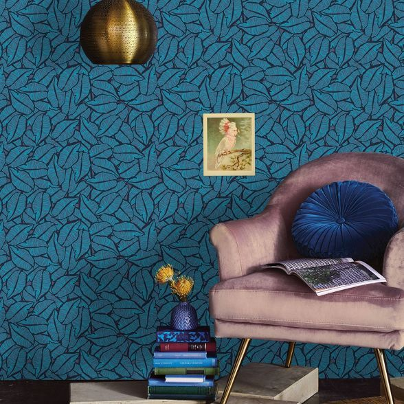 Layered Leaves Peel Stick Wallpaper Opalhouse Accent Walls In Living Room Peel And Stick Wallpaper Wallpaper