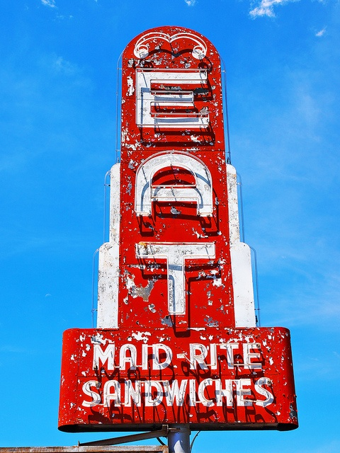 """""""EAT MAID-RITE"""" [Famous for Loose Meat Sandwiches since 1946 in *Lexington, Missouri*]~[Photograph by FotoEdge (Bob Travaglione) - June 24 2011 - Lexington, Missouri - US]'h4d'121127"""