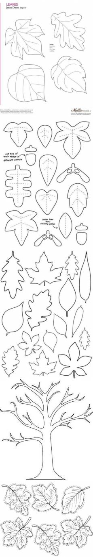 Шаблоны листьев