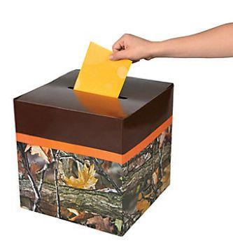 Camo Celebrations  - Camo Wedding Card Box, $4.00 (http://www.camocelebrations.com/camo-wedding-card-box/)